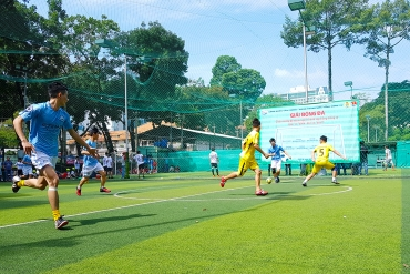 Football competition in celebration of the anniversary of establishment of the corporation ...