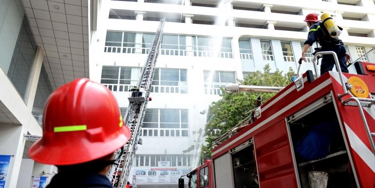 SAMCO diễn tập Phòng Cháy chữa cháy