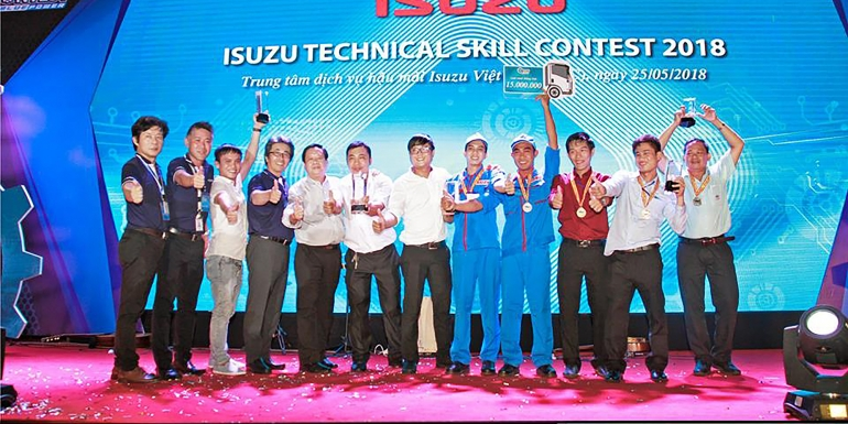 ISUZU AN LAC WINS FIRST TEAM PRIZE AND HIGH INDIVIDUAL PRIZES  IN ISUZU TECHNICAL SKILL CONTEST