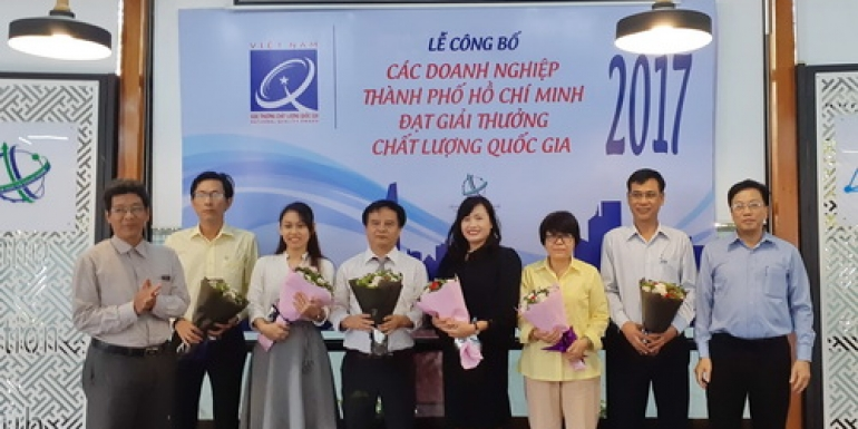 SAMCO được vinh danh doanh nghiệp TPHCM đạt giải thưởng Chất lượng quốc gia 2017