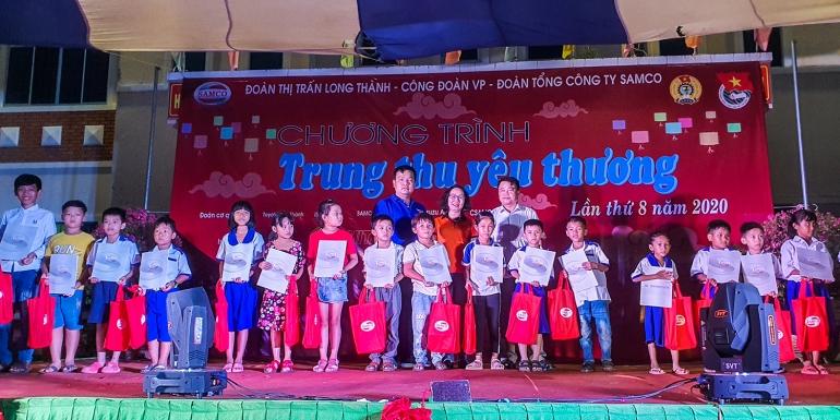 """Đoàn Thanh niên Tổng Công ty SAMCO  tổ chức Chương trình """"Trung thu yêu thương"""" lần thứ 8 năm 2020"""