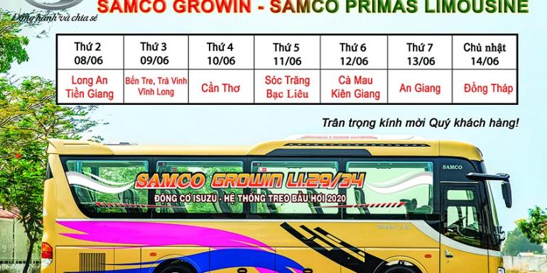 ROADSHOW GIỚI THIỆU 2 DÒNG SẢN PHẨM MỚI SAMCO GROWIN VÀ SAMCO PRIMAS LIMOUSINE