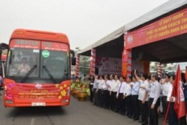 Các đơn vị vận tải hành khách TPHCM xuất quân phục vụ dịp tết Đinh Dậu 2017